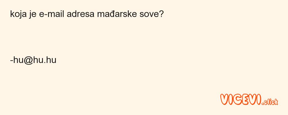 koja je e-mail adresa mađarske sove?