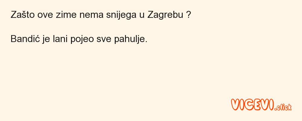 Nema snijega u Zagrebu