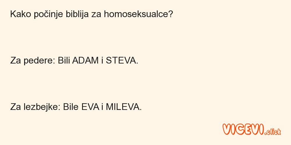 Kako počinje biblija za homoseksualce?