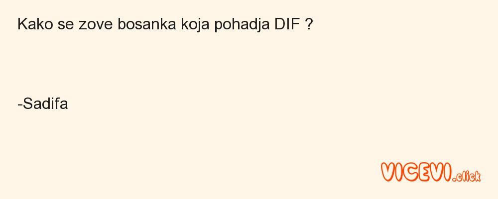 Kako se zove bosanka koja pohadja DIF ?