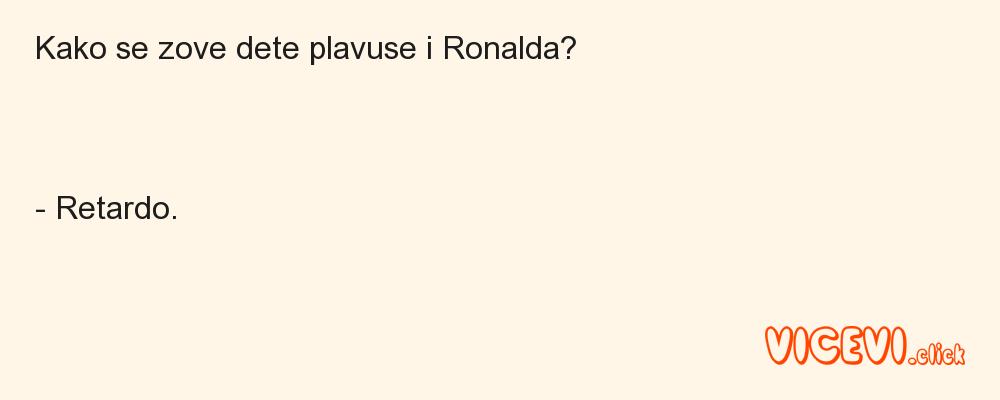 Kako se zove dete plavuse i Ronalda?