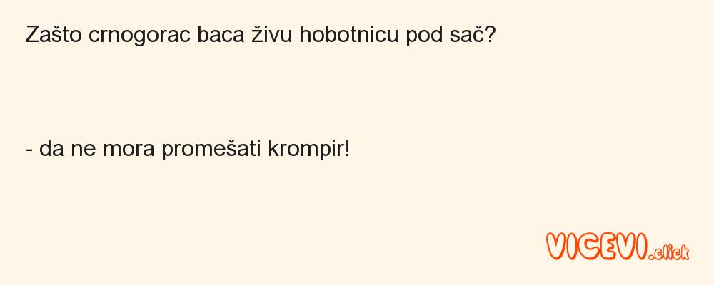Zašto crnogorac baca živu hobotnicu pod sač?